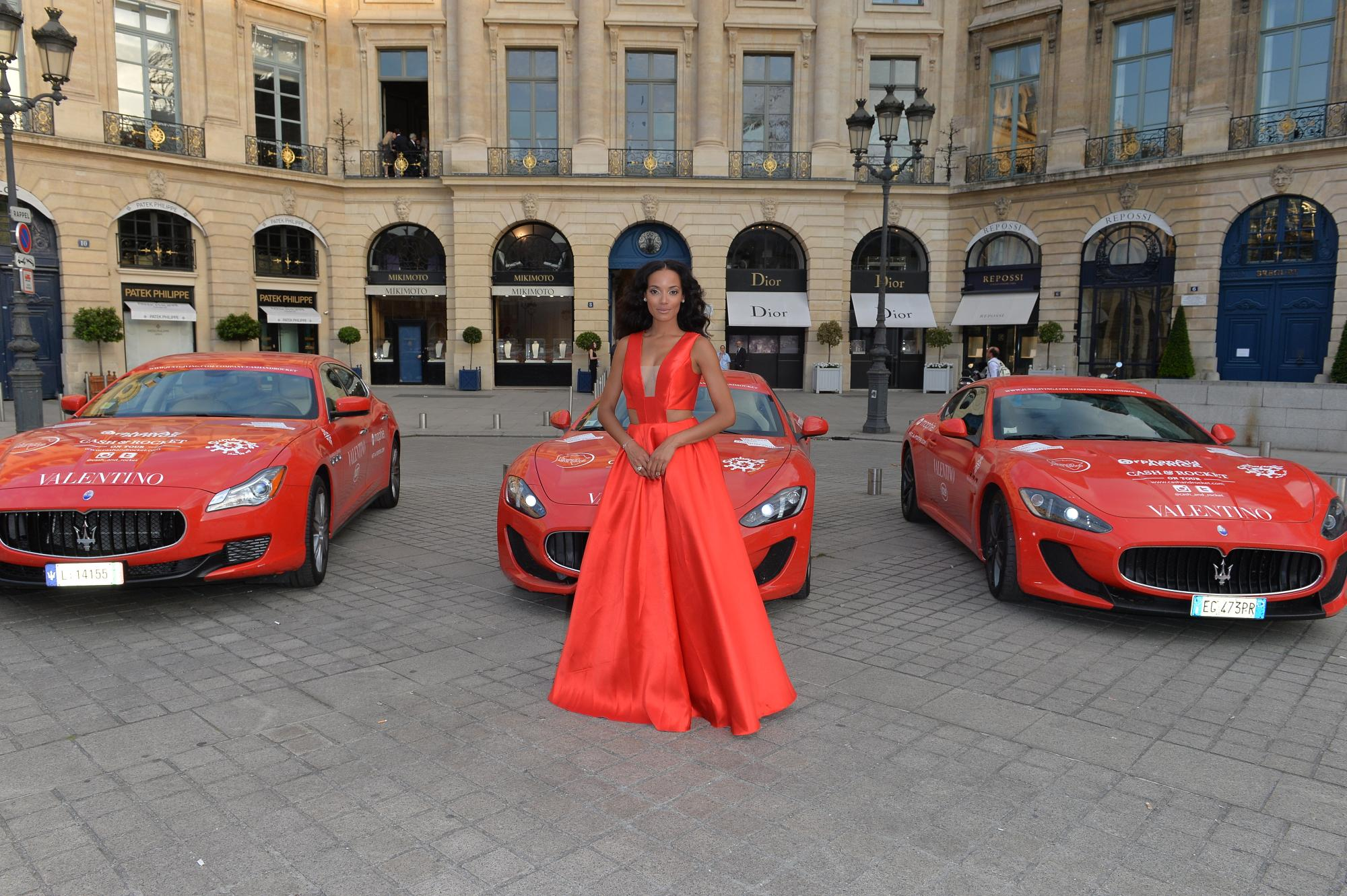 Selita Ebanks, Victoria's Secret Model for Cash & Rocket rally