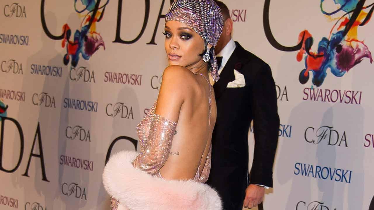 Rihanna in Sheer Dress at CFDA Fashion Awards