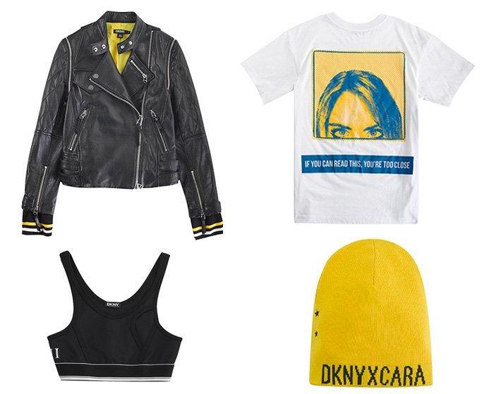 Model Cara Delevingne Designs for DKNY