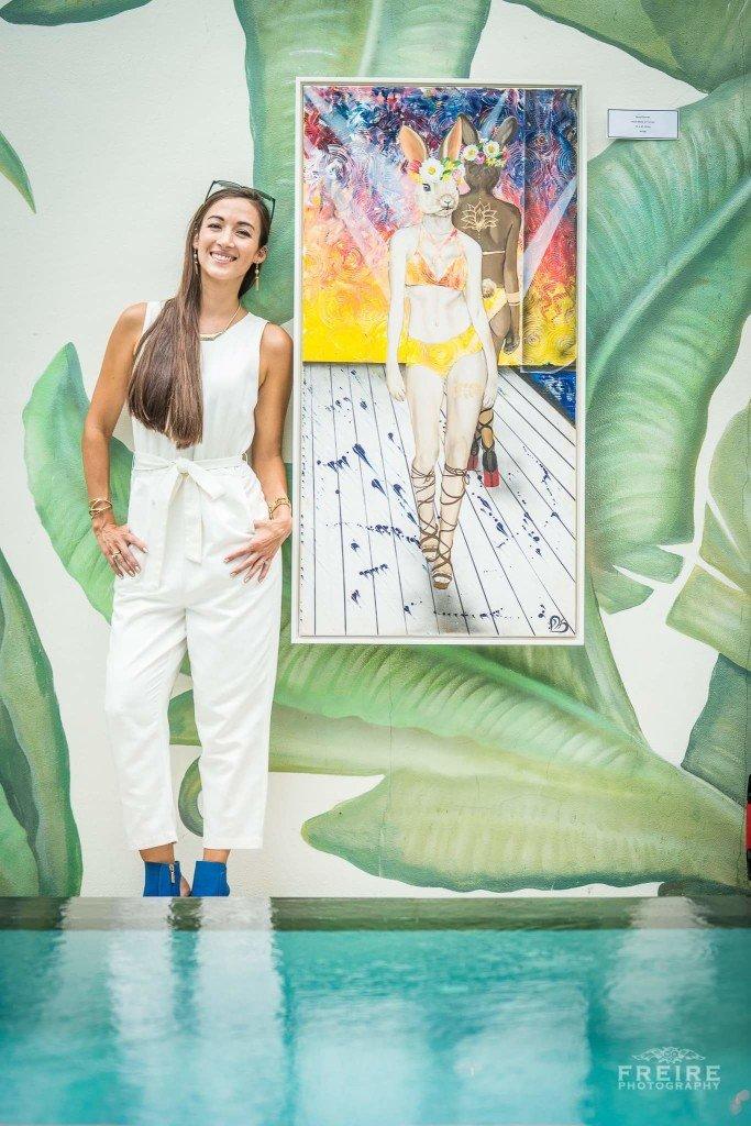 Artist Pressa Hall at SWimwear fashion week