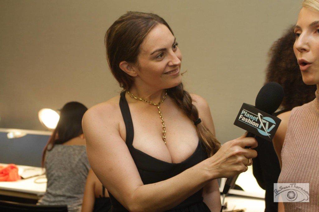 LAuren Harter interviewing for Planet Fashion TV